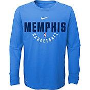 Nike Youth Memphis Grizzlies Dri-FIT Light Blue Practice Long Sleeve Shirt
