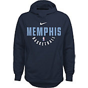 Nike Youth Memphis Grizzlies Therma-FIT Navy Practice Performance Hoodie