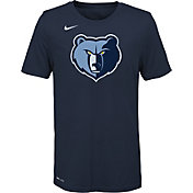 Nike Youth Memphis Grizzlies Dri-FIT Navy Logo T-Shirt