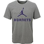 Jordan Youth Charlotte Hornets Dri-FIT Legend Grey T-Shirt
