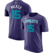Jordan Youth Charlotte Hornets Kemba Walker #15 Dri-FIT Purple T-Shirt
