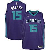 Jordan Youth Charlotte Hornets Kemba Walker #15 Purple Statement Dri-FIT Swingman Jersey