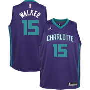 Jordan Youth Charlotte Hornets Kemba Walker #15 Purple Statement Dri-FIT Swingman Jersey