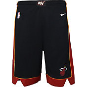 Nike Youth Miami Heat Dri-FIT Black Swingman Shorts