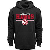 Outerstuff Youth Atlanta Hawks Black Pullover Hoodie