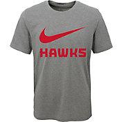 Nike Youth Atlanta Hawks Dri-FIT Legend Grey T-Shirt