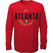 Nike Youth Atlanta Hawks Dri-FIT Red Practice Long Sleeve Shirt