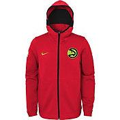 Nike Youth Atlanta Hawks On-Court Red Dri-FIT Showtime Full-Zip Hoodie
