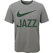 Nike Youth Utah Jazz Dri-FIT Legend Grey T-Shirt