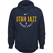 Nike Youth Utah Jazz Therma-FIT Navy Practice Performance Hoodie