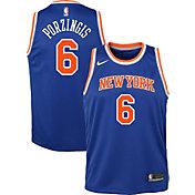 Nike Youth New York Knicks Kristaps Porzingis #6 Royal Dri-FIT Swingman Jersey