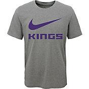 Nike Youth Sacramento Kings Dri-FIT Legend Grey T-Shirt