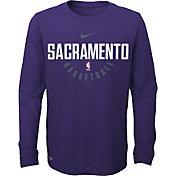 Nike Youth Sacramento Kings Dri-FIT Purple Practice Long Sleeve Shirt