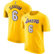 Nike Youth Los Angeles Lakers Jordan Clarkson #6 Dri-FIT Gold T-Shirt