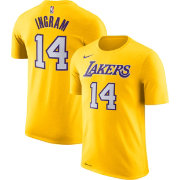 Nike Youth Los Angeles Lakers Brandon Ingram #14 Dri-FIT Gold T-Shirt