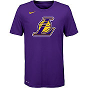 Nike Youth Los Angeles Lakers Dri-FIT Purple Logo T-Shirt