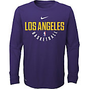 Nike Youth Los Angeles Lakers Dri-FIT Purple Practice Long Sleeve Shirt