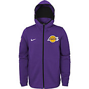 Nike Youth Los Angeles Lakers On-Court Purple Dri-FIT Showtime Full-Zip Hoodie