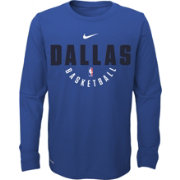 Nike Youth Dallas Mavericks Dri-FIT Royal Practice Long Sleeve Shirt