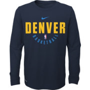 Nike Youth Denver Nuggets Dri-FIT Navy Practice Long Sleeve Shirt