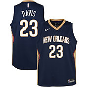 Nike Youth New Orleans Pelicans Anthony Davis #23 Navy Dri-FIT Swingman Jersey