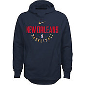 Nike Youth New Orleans Pelicans Therma-FIT Navy Practice Performance Hoodie