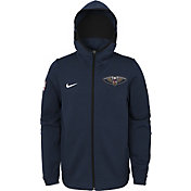 Nike Youth New Orleans Pelicans On-Court Navy Dri-FIT Showtime Full-Zip Hoodie