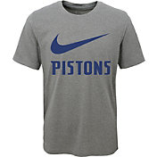Nike Youth Detroit Pistons Dri-FIT Legend Grey T-Shirt