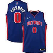 Nike Youth Detroit Pistons Andre Drummond #0 Royal Dri-FIT Swingman Jersey