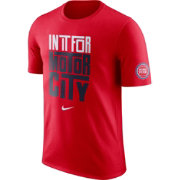 "Nike Youth Detroit Pistons Dri-FIT ""In It For Motor City"" Red T-Shirt"