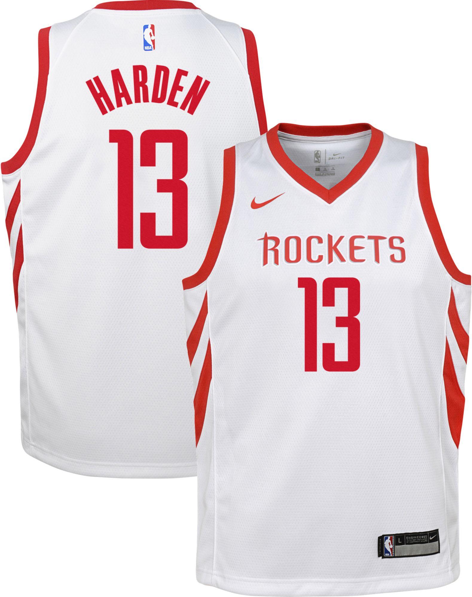 Nike Youth Houston Rockets James Harden #13 White Dri-FIT Swingman Jersey    DICK'S Sporting Goods