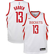 Nike Youth Houston Rockets James Harden #13 White Dri-FIT Swingman Jersey