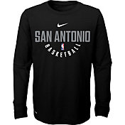 Nike Youth San Antonio Spurs Dri-FIT Black Practice Long Sleeve Shirt