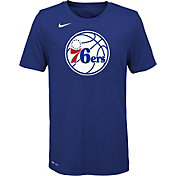 Nike Youth Philadelphia 76ers Dri-FIT Royal Logo T-Shirt