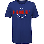 Nike Youth Philadelphia 76ers Dri-FIT Royal Practice T-Shirt