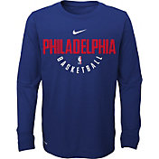 Nike Youth Philadelphia 76ers Dri-FIT Royal Practice Long Sleeve Shirt
