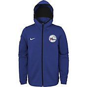 Nike Youth Philadelphia 76ers On-Court Royal Dri-FIT Showtime Full-Zip Hoodie