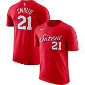 Nike Youth Philadelphia 76ers Joel Embiid #21 Dri-FIT Red T-Shirt