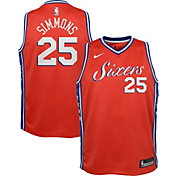 Nike Youth Philadelphia 76ers Ben Simmons #25 Red Statement Dri-FIT Swingman Jersey