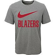 Nike Youth Portland Trail Blazers Dri-FIT Legend Grey T-Shirt