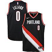 Nike Youth Portland Trail Blazers Damian Lillard #0 Black Dri-FIT Swingman Jersey