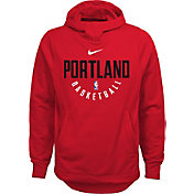 Nike Youth Portland Trail Blazers Therma-FIT Red Practice Performance Hoodie