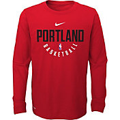 Nike Youth Portland Trail Blazers Dri-FIT Red Practice Long Sleeve Shirt