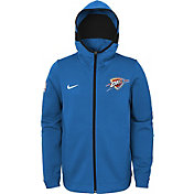 Nike Youth Oklahoma City Thunder On-Court Blue Dri-FIT Showtime Full-Zip Hoodie