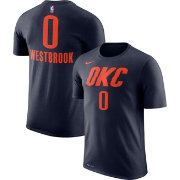 Nike Youth Oklahoma City Thunder Russell Westbrook #0 Dri-FIT Navy T-Shirt