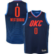 Nike Youth Oklahoma City Thunder Russell Westbrook #0 Navy Statement Dri-FIT Swingman Jersey