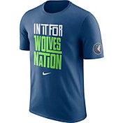 "Nike Youth Minnesota Timberwolves Dri-FIT ""In It For Wolves Nation"" Blue T-Shirt"