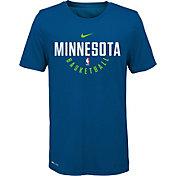 Nike Youth Minnesota Timberwolves Dri-FIT Blue Practice T-Shirt