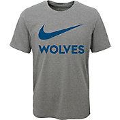 Nike Youth Minnesota Timberwolves Dri-FIT Legend Grey T-Shirt