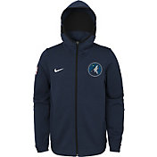 Nike Youth Minnesota Timberwolves On-Court Navy Dri-FIT Showtime Full-Zip Hoodie